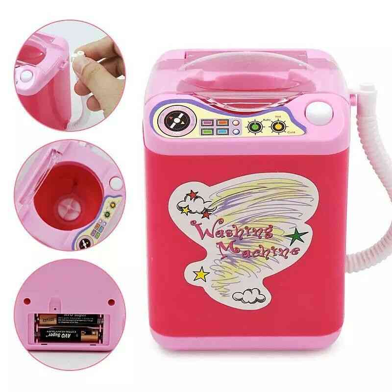 Mini Electric Washing Machine - Cosmetic Sponge Makeup And Brushes Cleaner Toy