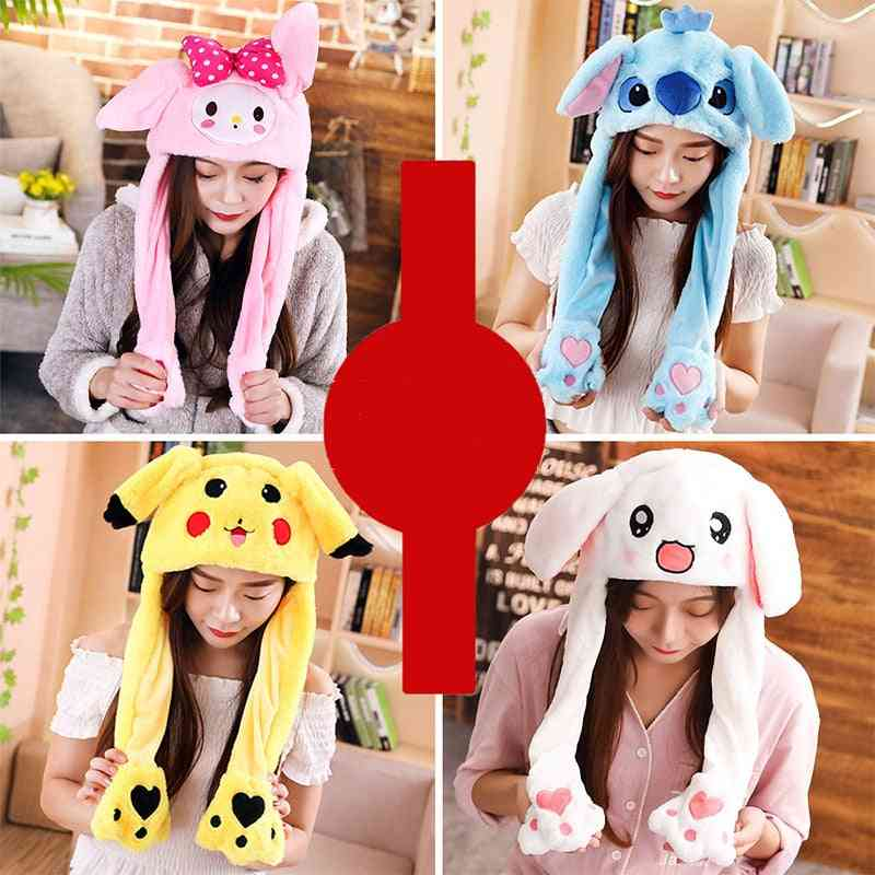 New Cartoon Hats Moving Ears Cute Rabbit Toy Hat  For Girl- Toy -christmas