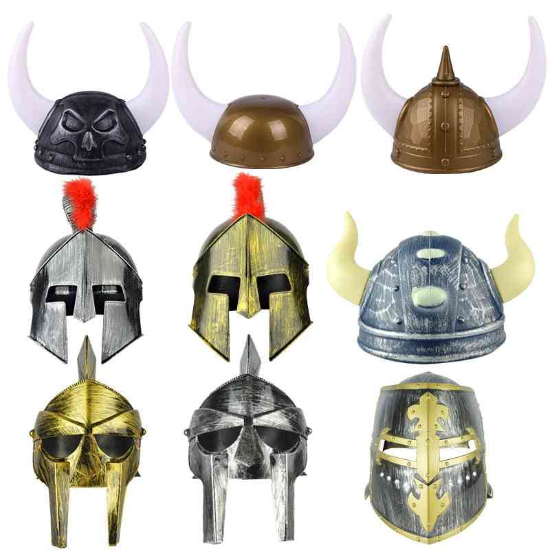 Holiday Ball Hat Props Knight Warrior Helmet Hat