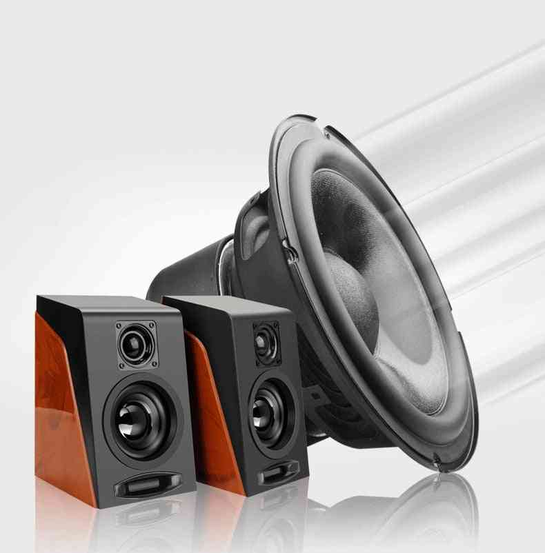 Usb Wired Wooden Combination Speakers - Speakers, Bass Stereo, Music Player, Subwoofer Sound Box