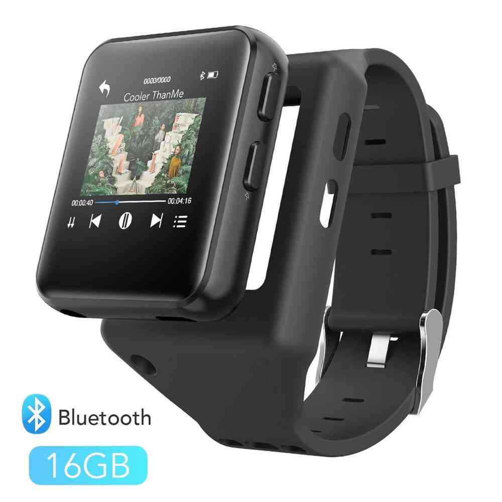 Mp4 Player Bluetooth4.2 With Clip 8gb/16gb Touch Screen, Hifi Metal Video Player With Fm Radio,voice Recorder Mini Mp4 Player