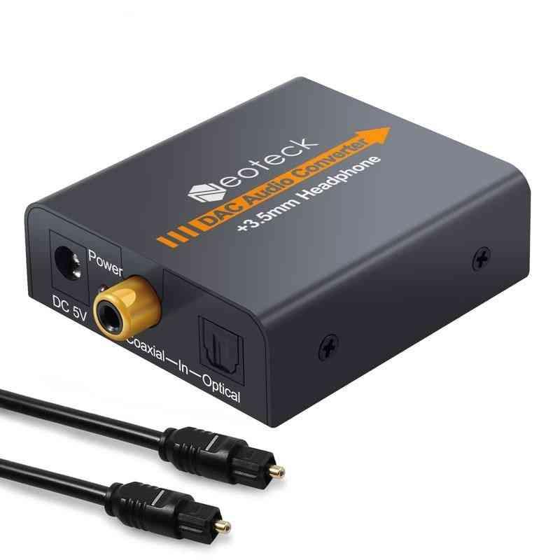 Dac Adapter, Converter Digital To Analogue Audio Coax