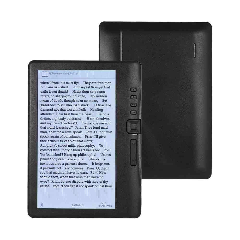 Ebook Reader Add Sets With Hd Resolution Video And Mp3 Music Player
