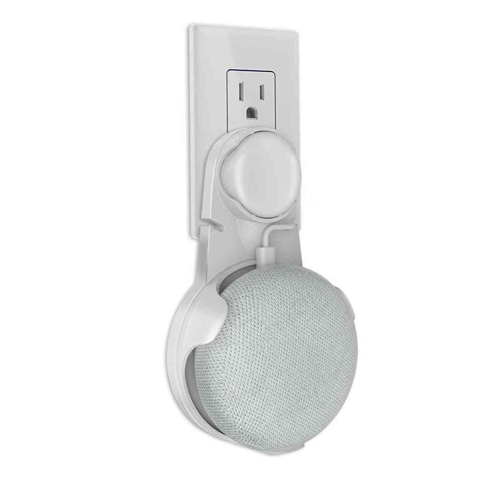 Outlet Wall Mount Holder Cord Bracket - Mini Voice Assistant Plug In Audio Stand