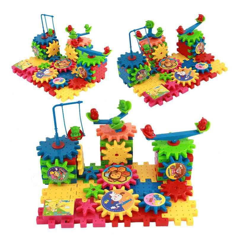 Children Variety Building Blocks Electric Assembly Gears