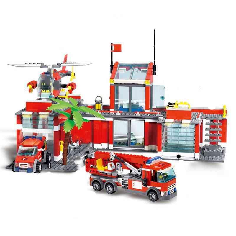 Fire Truck Building Blocks City Educational -toys Tricks