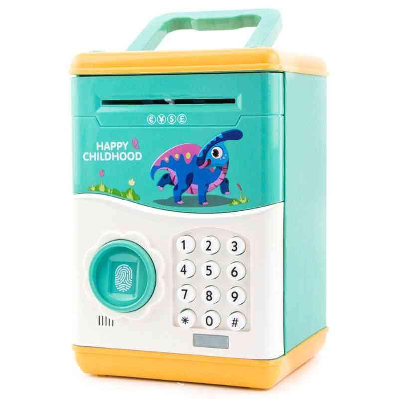 Electronic Piggy Bank - Mini Atm Coin Money Saving Box For
