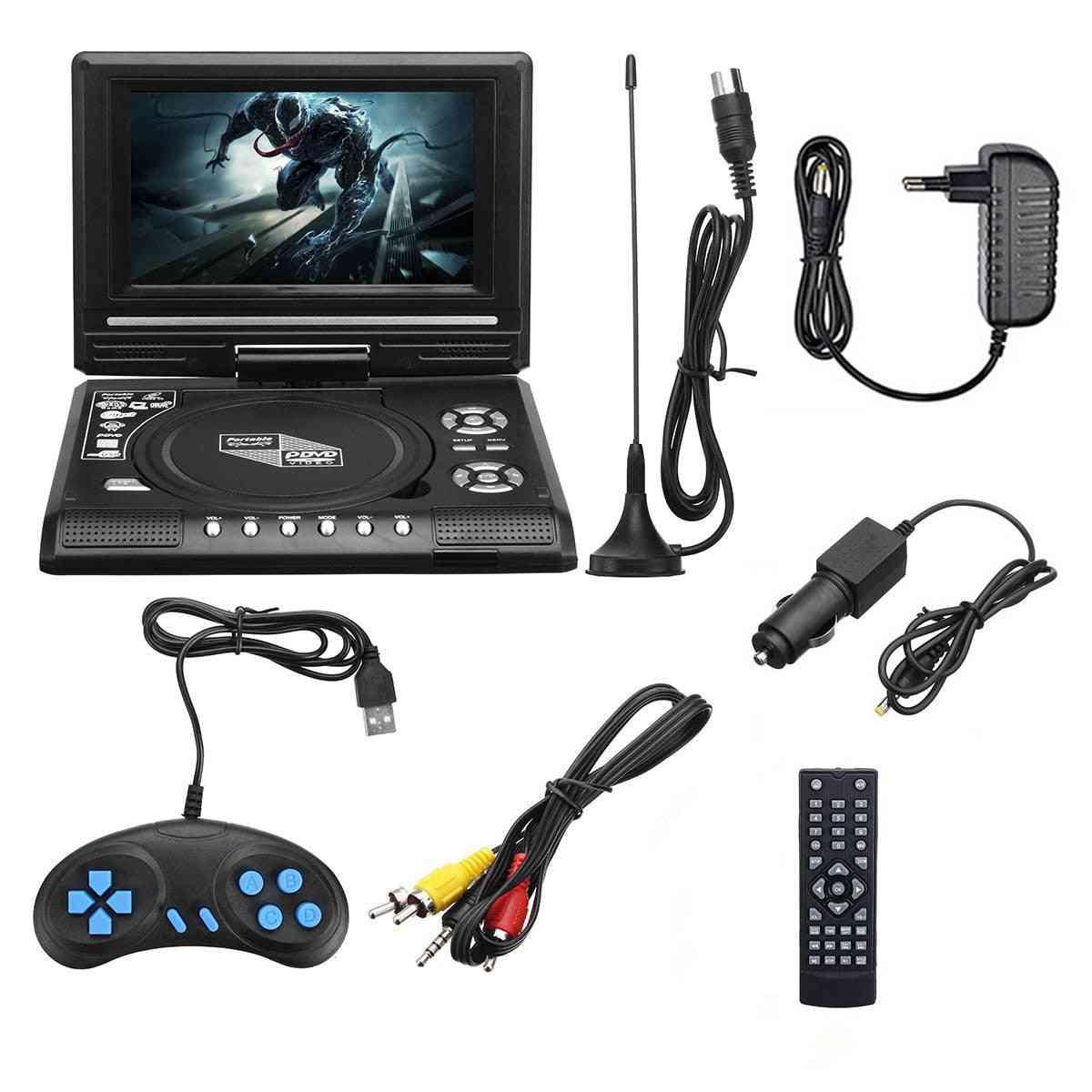 7.8 Inch Hd Tv Car Dvd Player - Usb Sd Cards, Rca Tv Portatil Cable
