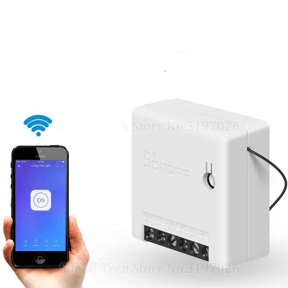 Smart Wifi Switch - Small Body Remote Control Via Ewelink App