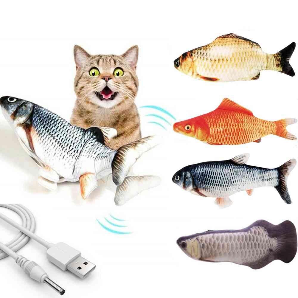3d Electric, Usb Charging-simulation Fish Toy For Pets