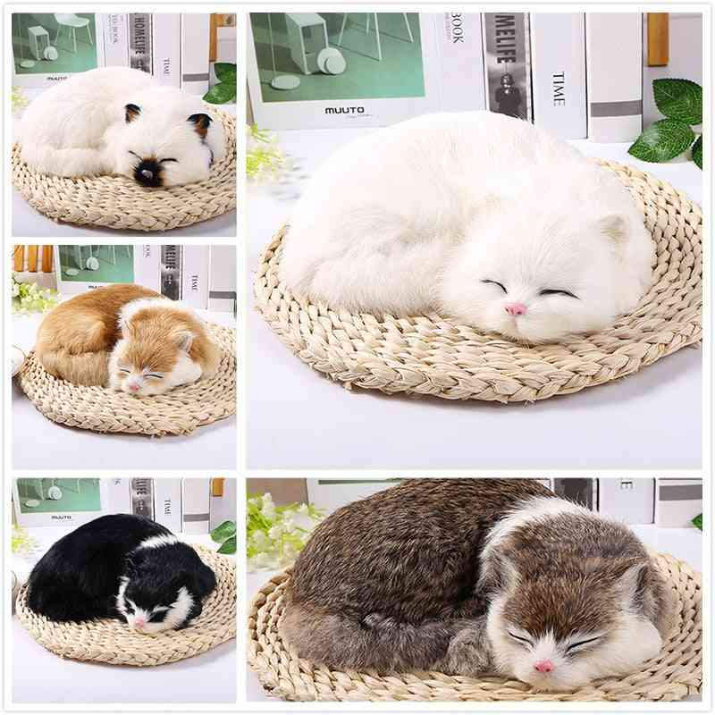 1pc Mini Cute Plush Animals - Sleeping Cats For Home Crafts