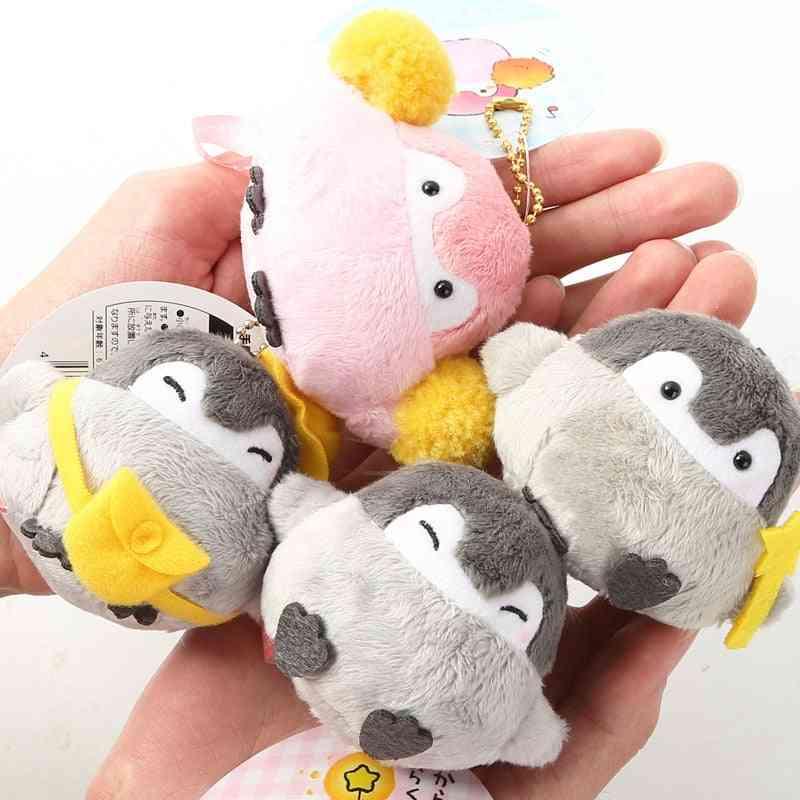 Positive Energy Penguin Plush Keychain Bags Couples Pendant 6.5cm/4kinds-wj01