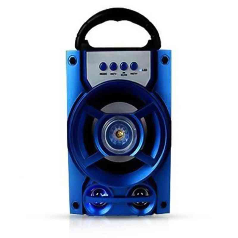Protable Bluetooth Speaker-wireless Bass Stereo, Sound System With Led Light
