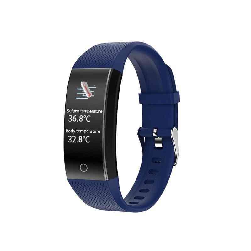Body Temperature Detection Smart Bracelet - Immunity Measure, Blood Pressure, Heart Rate And Fitness Waterproof