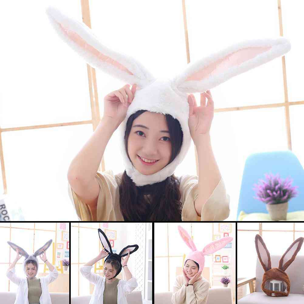 Rabbit Ear Design Hat-warm, Hook And Loop Closure