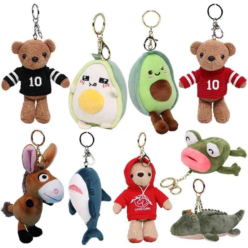 Cute Cartoon Animal Plush - Keychain Backpack Toy