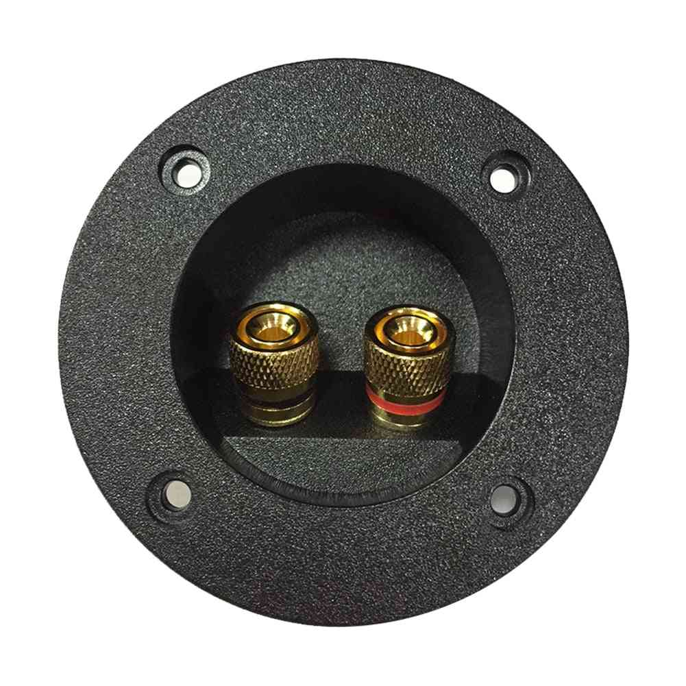 Speaker Junction Case Round Plate Audio -cup / Binding Post Recessed Connecto