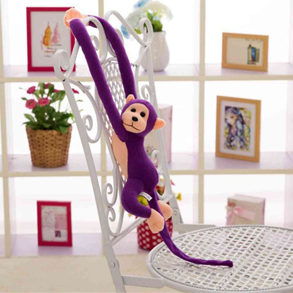 Cute Long Arm Tail Monkey Soft Plush Toy - Baby Sleeping Appease And Decoration Curtains Hanging Doll
