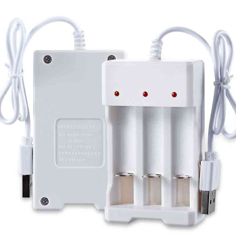 Universal Usb Output Battery Charger - 2/3/4 Slot Adapter For Aa / Aaa Rechargeable Quick Charge