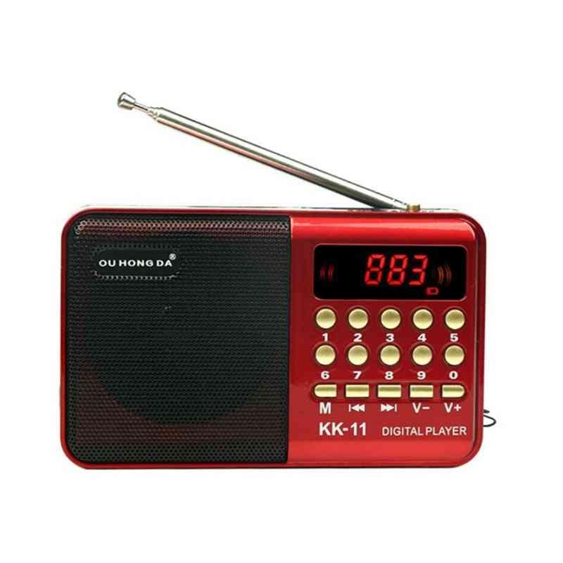 Radio Wireless Speakers & Music Player - Digital Mini Radio Multifunctional Fm Sound Recorder Insert Card