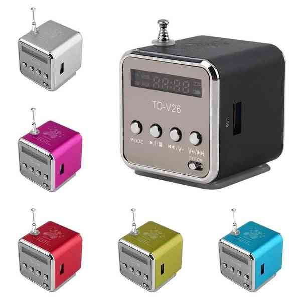 Digital Aluminum Internet Radio Mini Speaker - Fm Receiver, Sd Usb Play Stereo
