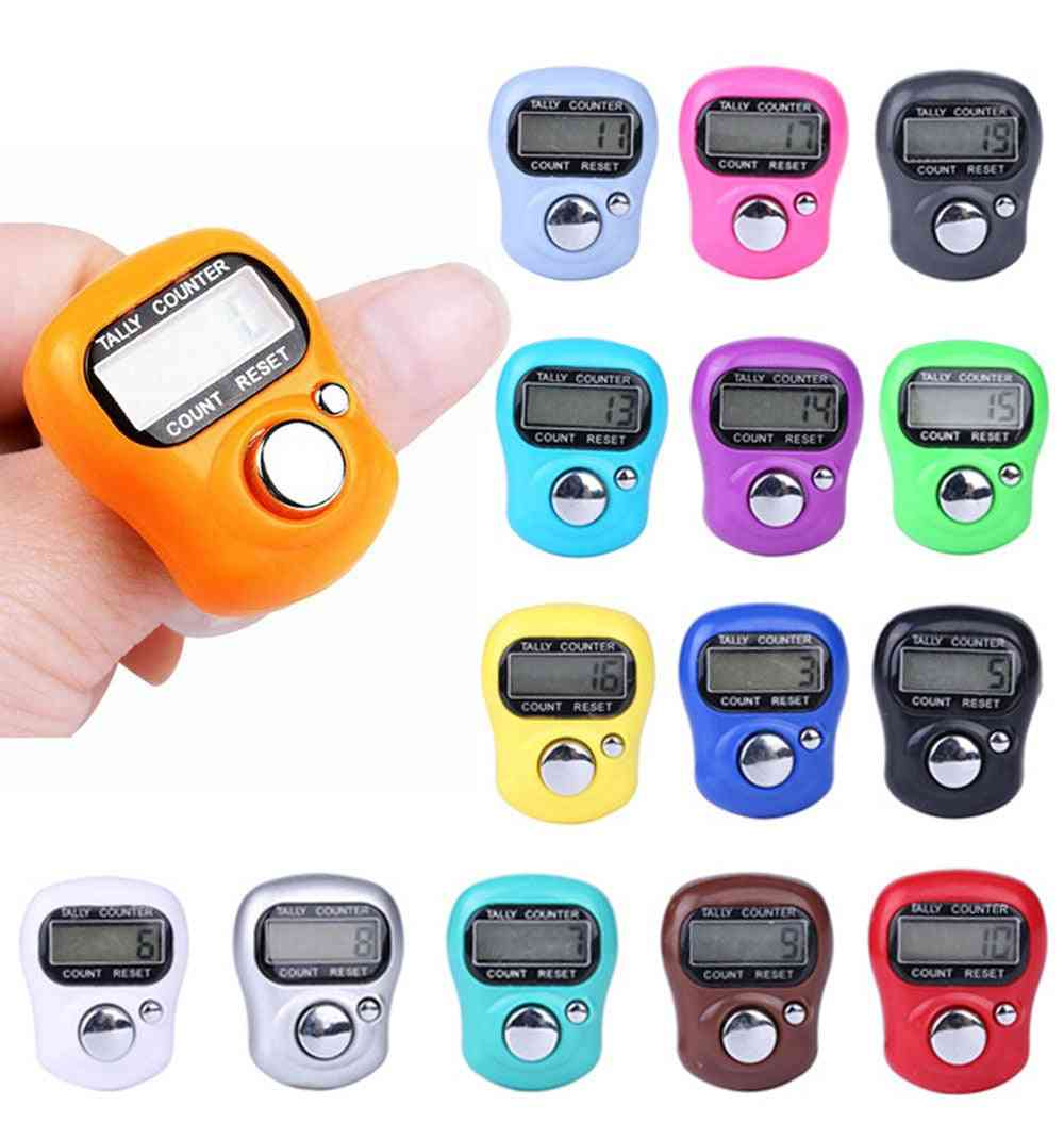 Digital Lcd Electronic Golf Finger Hand Ring - Knitting Row Tally Counter