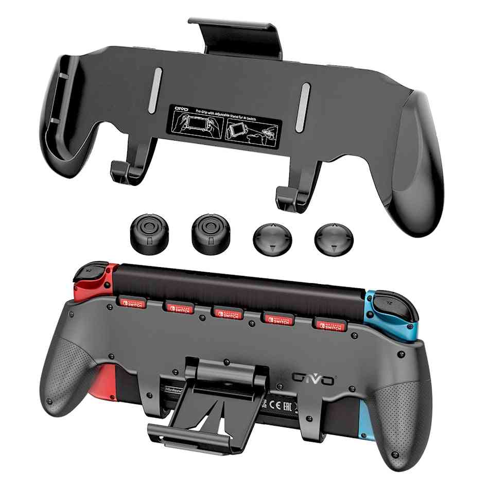 Adjustable Stand Handle, Holder With 5 Card Storage For Nintend Switch Kit