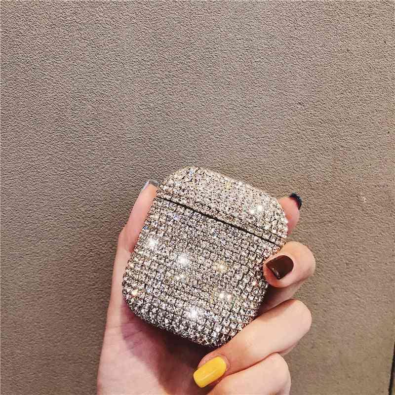 Luxury 3d Cute, Bling Diamonds, Wireless Bluetooth Earphone Case For Apple Airpods 2 1