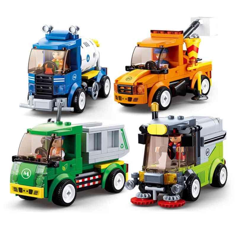 City/town Building Block Vehicles, Bricks And Figures
