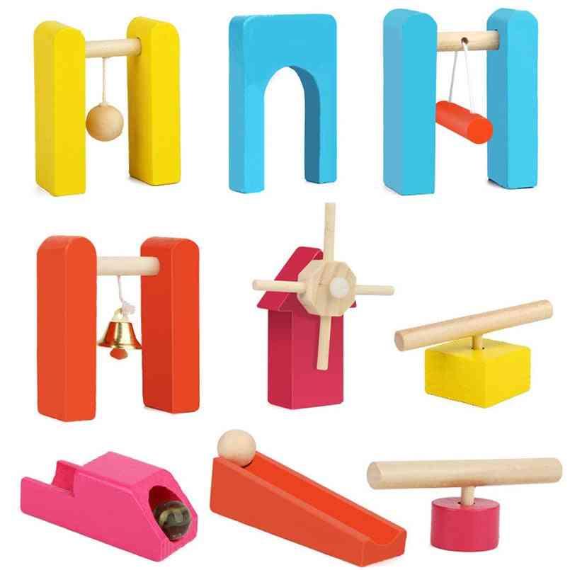 Colorful  Wooden Domino Accessories - Building Blocks