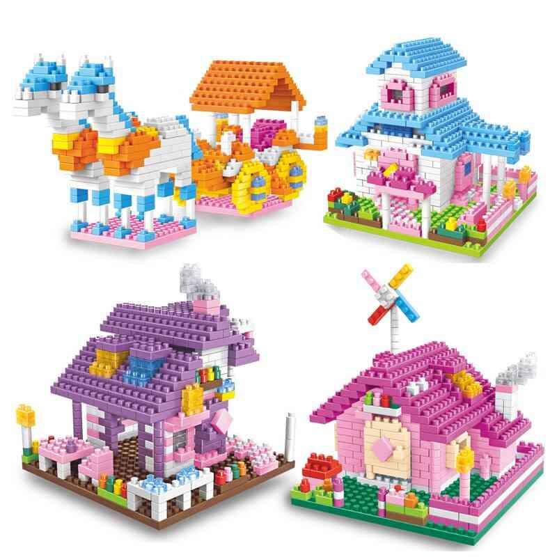 Mini Building Blocks - No Logoinger, Fairy Carriage Purple Villa For