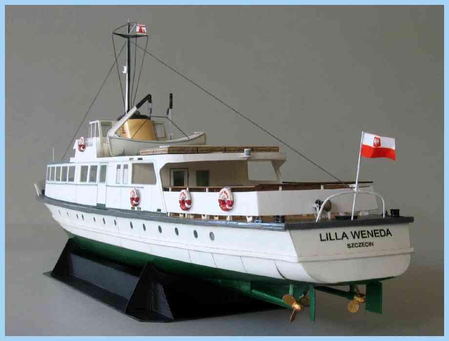40cm Ferry Ship Fine 3d Paper - Card Model, Building Sets Toy