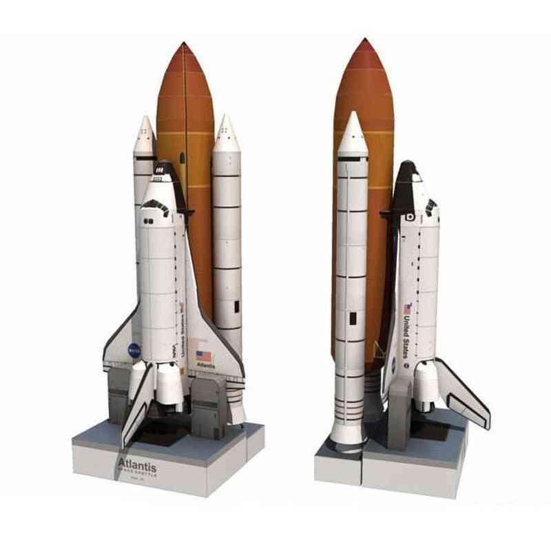 1:150 Space Shuttle Atlantis - Space Rocket, 3d Paper Card Model Building Sets Toy