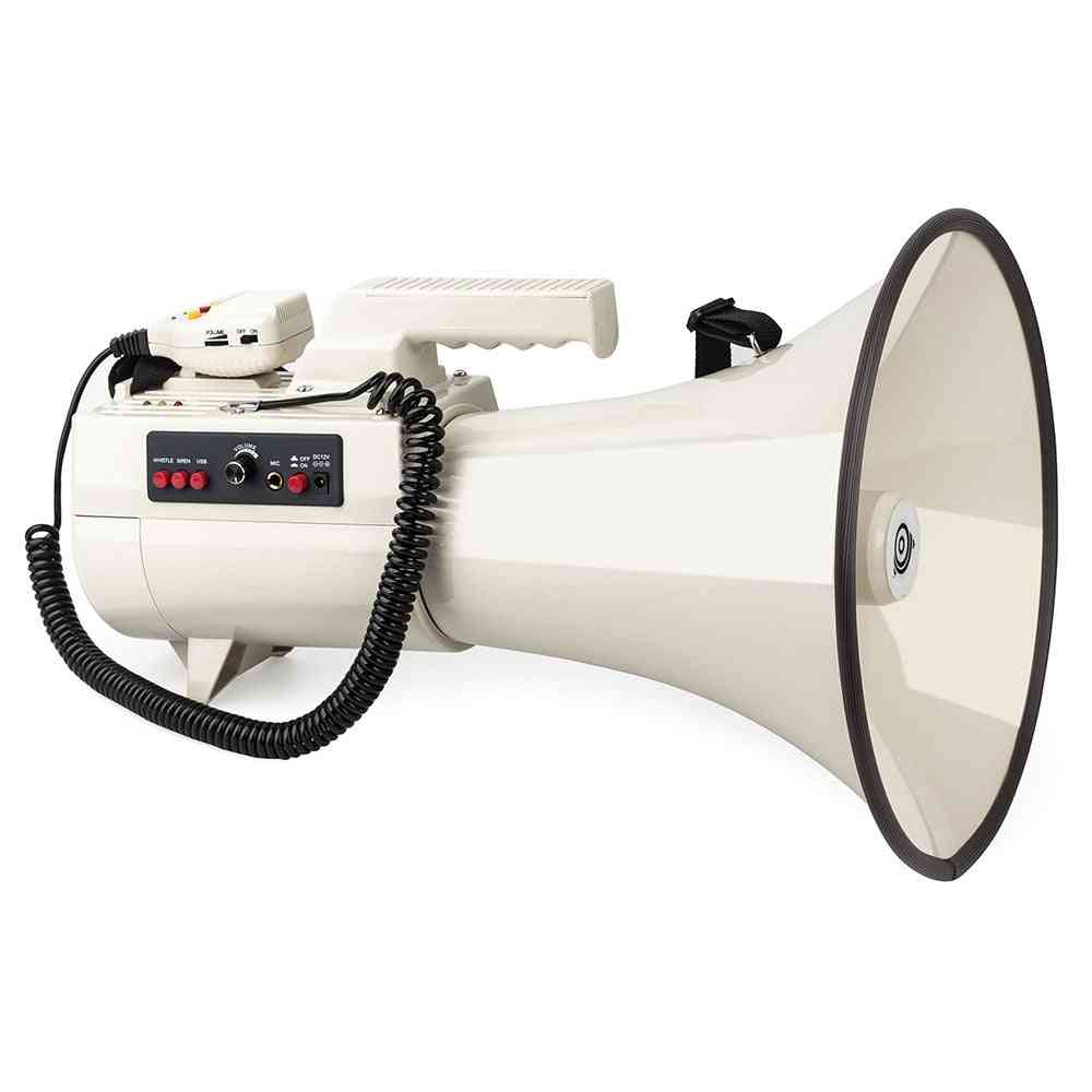 Super High Power 75w Megaphone 2km Amplified Multi-function Speaker (white)