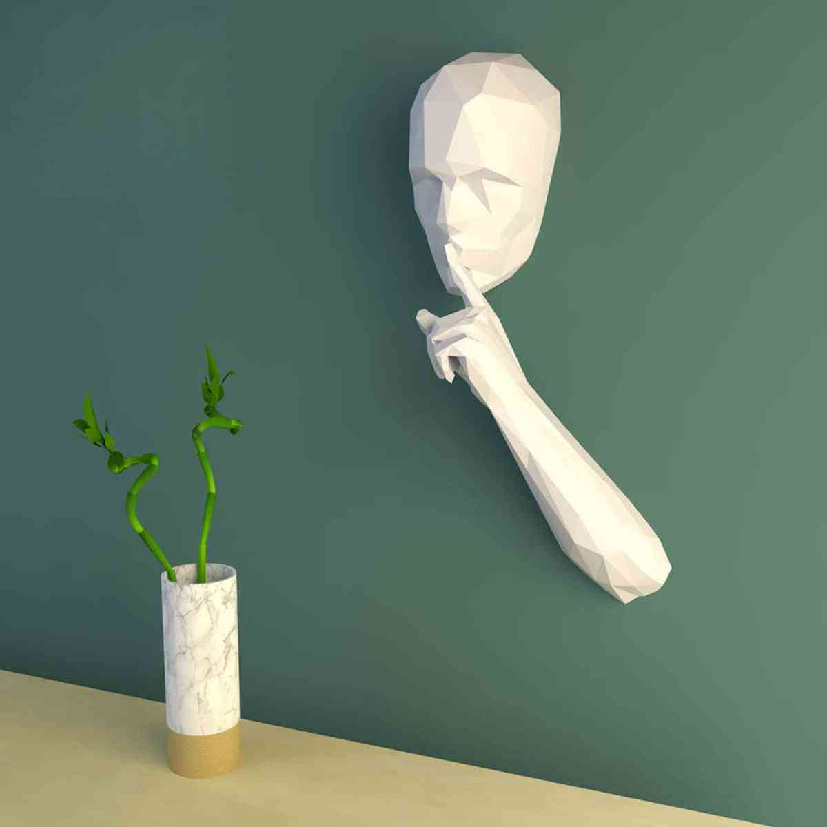 3d Paper Model Of The Silent Person - Home Decor