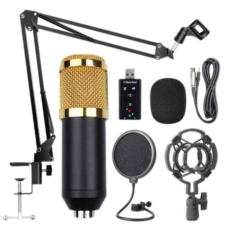 Bm800 Professional Suspension Microphone Kit - Broadcasting Recording Condenser
