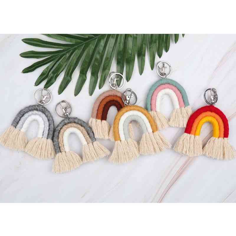 Weaving Rainbow, Handmade Holder - Charm Car Hanging Jewelry
