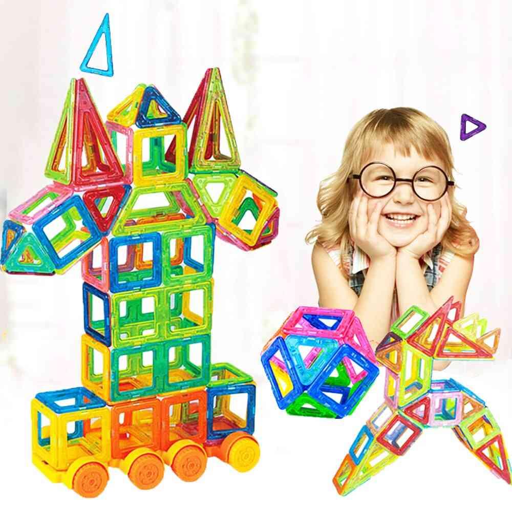 110pcs Magnetic Building Blocks Model & Construction For
