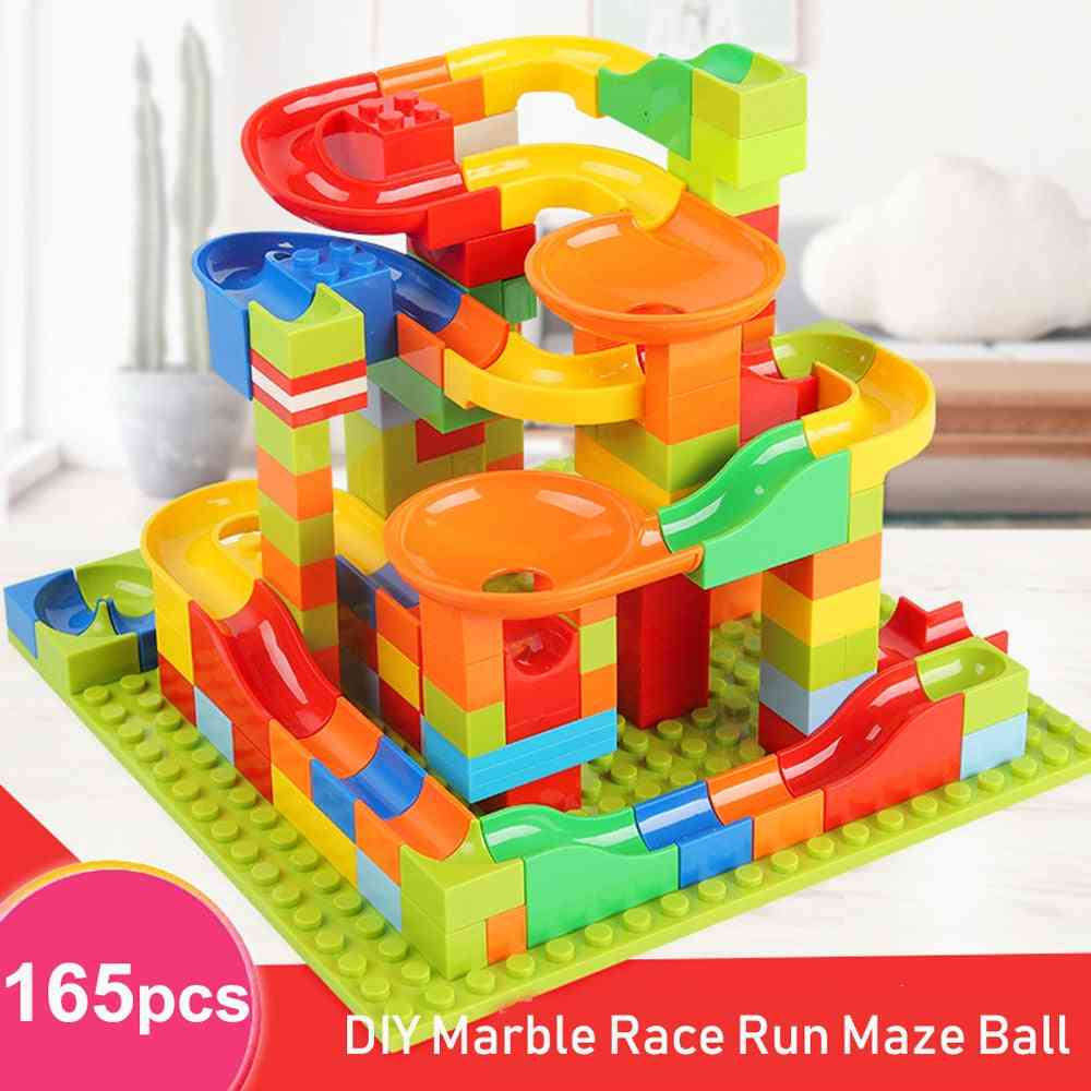 3d Construction Marble Ball Track Building Blocks Bricks Set For