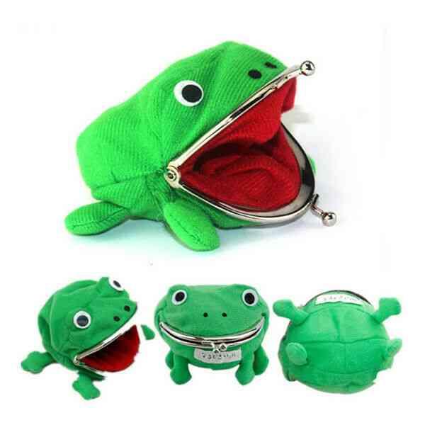Frog Shape Cosplay Animal Bag, Coin Purse, Mini Slim Card Wallet