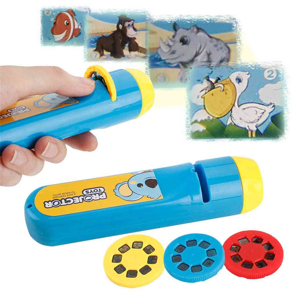 Portable-flashlight-projection, Realistic-animal-wor Toy