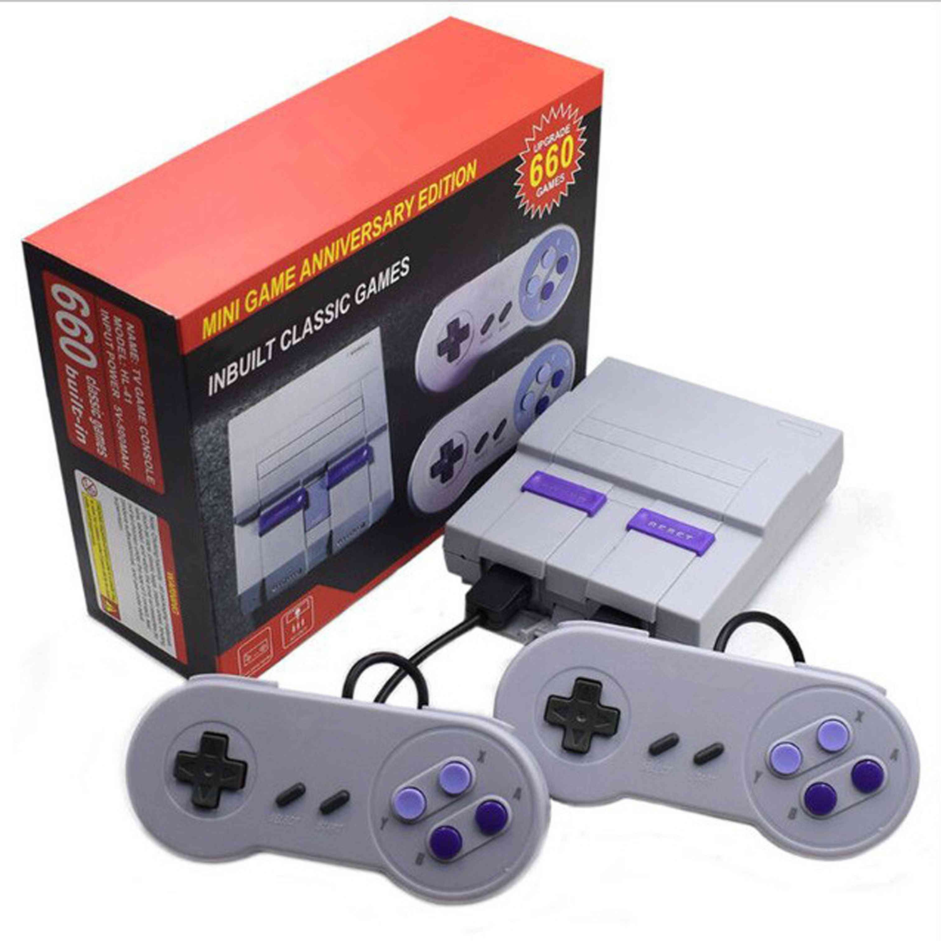 Super Classic, 8 Bit Retro, Mini Video Game And Consoles With Buit-in 660 Games With 2 Controllers