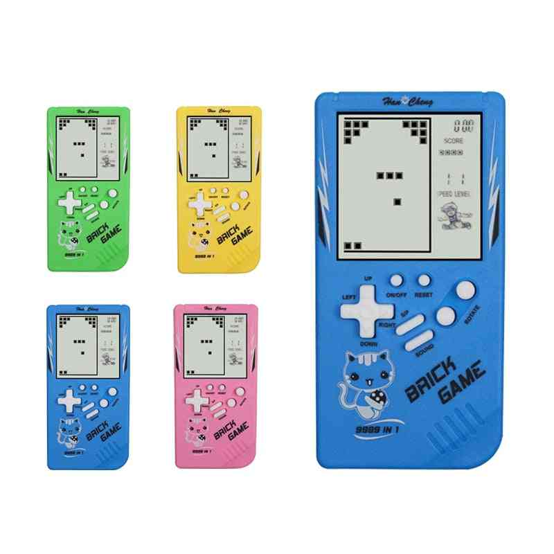 Childhood, Retro, Handheld Tetris-brick Game Console