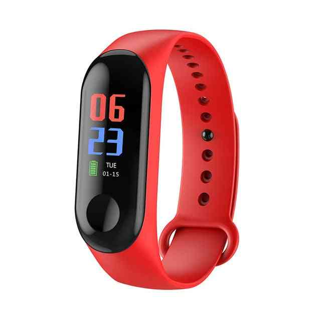 Smart Wristband, Continuous Heart Rate Monitor - Touch Screen Fitness Tracker