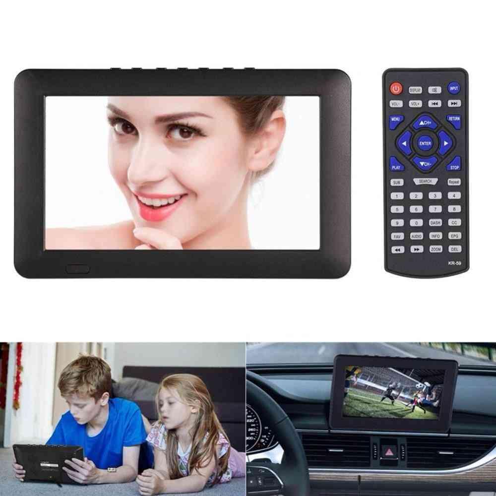 7 Inch Tft-led Tv 110v-240v Atsc 16:9 Digital Television Tv Support - 1080p Hd Tf Usb Ports