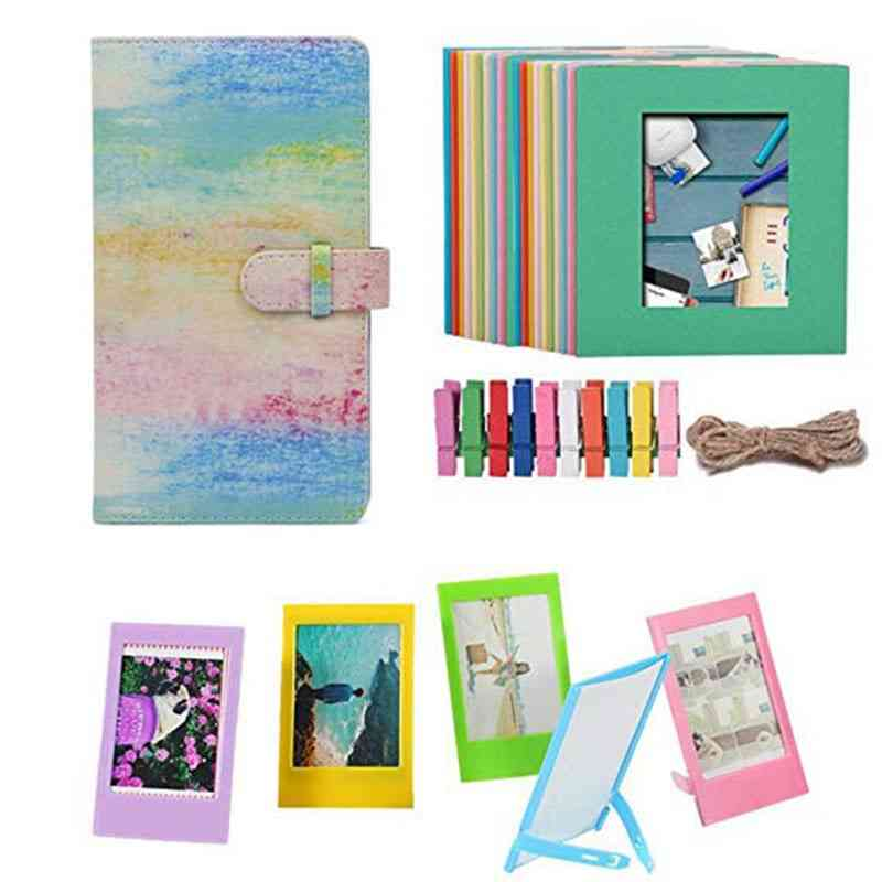 Instax Mini Instant Camera, Bundle Kit Includes Albums, Hanging And Frames
