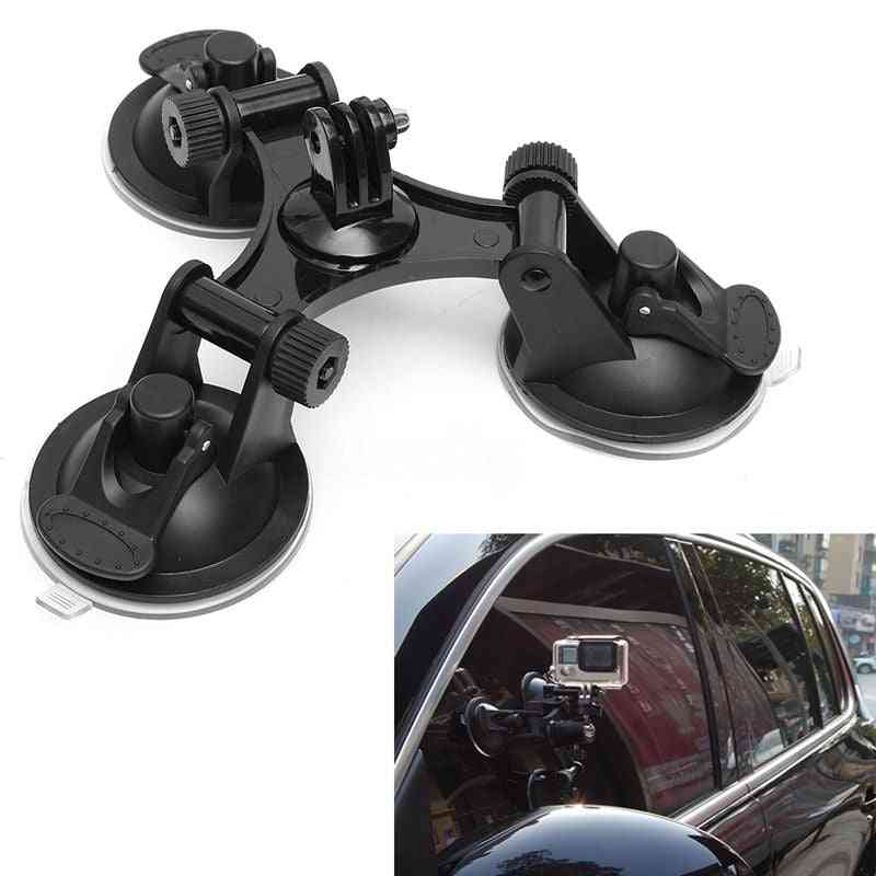 Triple-suction Cup Mount For Mini Action Camera