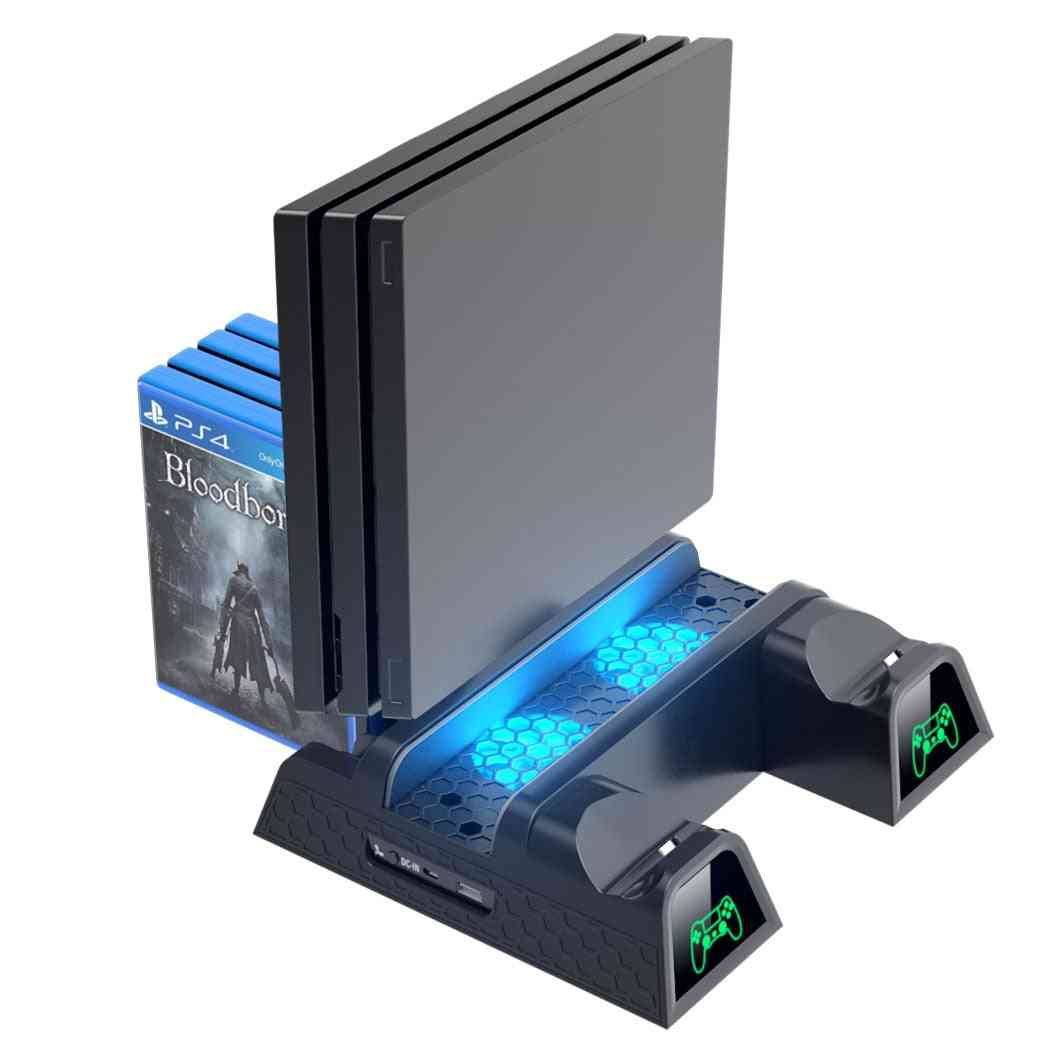 Ps4 Pro Dual Controller Charger - Console Vertical Cooling Stand