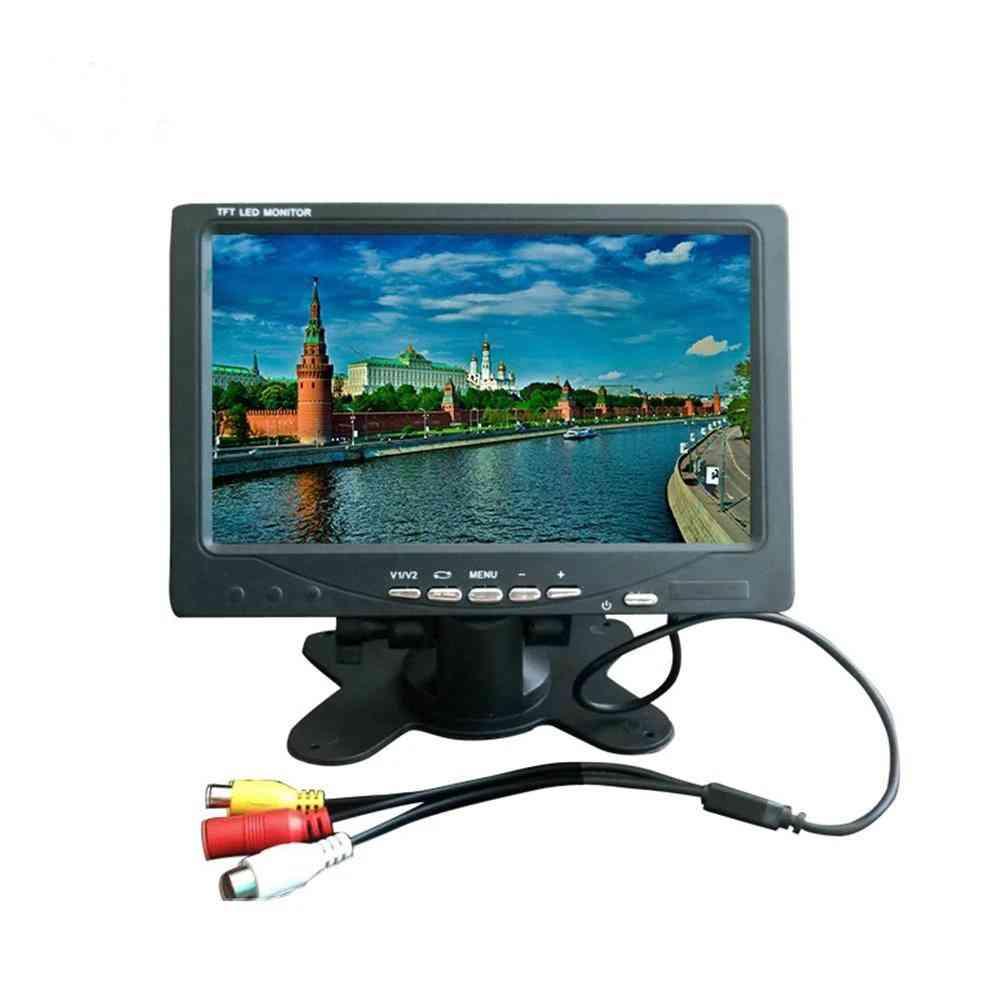 7-inch, Tft Led Monitor- A/v Display Car Tv