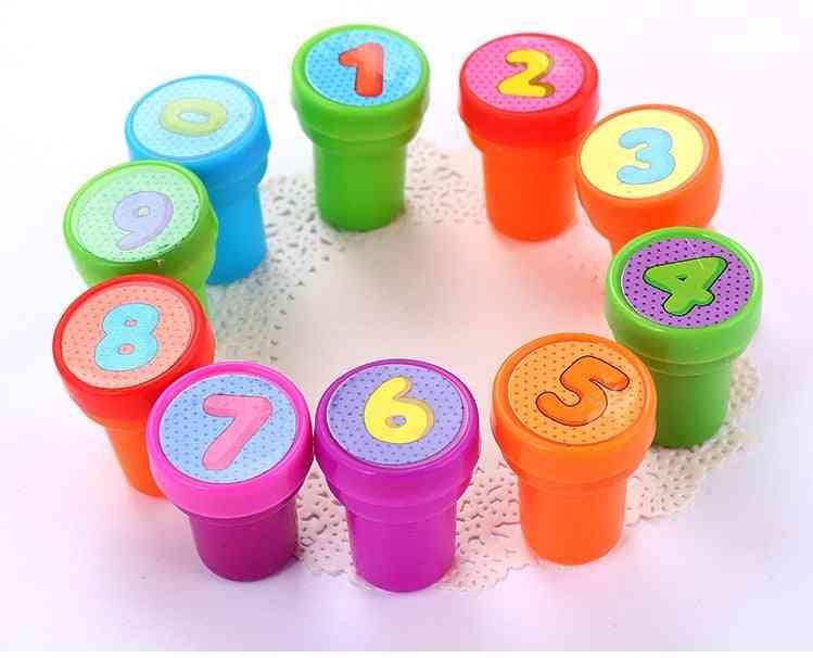 Stamps - Cartoon Letter English 26 Alphabet, 1-10 Number Maths